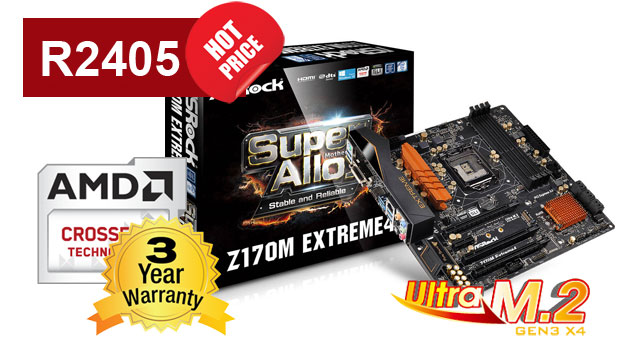 ASROCK Fatal1y Z170M Gaming ITX/AC EXTREME 4 Motherboard